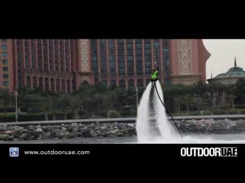 Flyboarding with Hydro Water Sports Dubai, Burj Al Arab, Atlantis the Palm - Outdoor UAE 2016