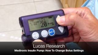 Video thumbnail: Medtronic Insulin Pump: How To Change Bolus Settings