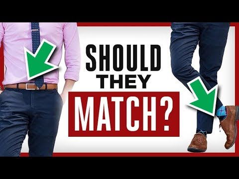 How To Match Your Belt  Shoes Rules For Matching Colors