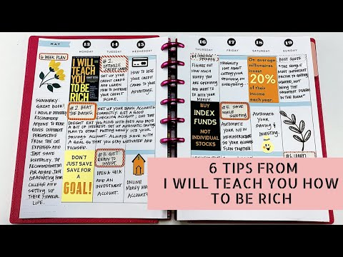 Read With Me: I Will Teach You To Be Rich #bookreview #booktube #planwithme #readwithme