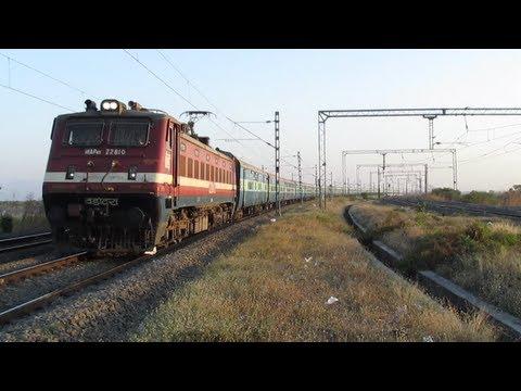 Fastest Mail/Express train of India ~ Maharashtra Sampark Kranti blinks at 100Kmph!!