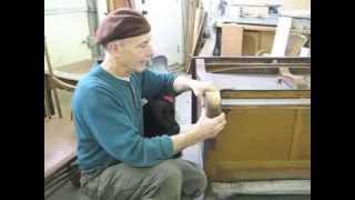 Applying Veneer To A Curved Leg - Thomas Johnson Antique Furniture Restoration