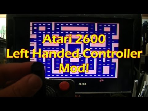 Atari 2600 Joystick Conversion for Left Handed Use!