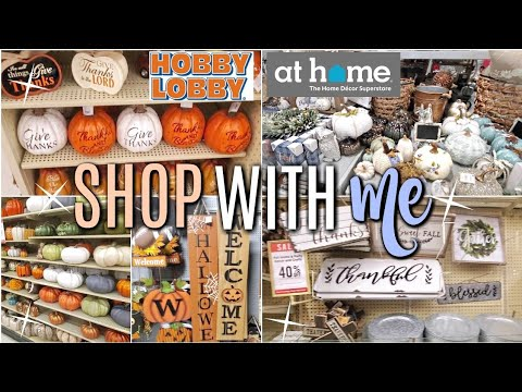 FALL SHOP WITH ME +HAUL // AT HOME, HOBBY LOBBY🍁🍂