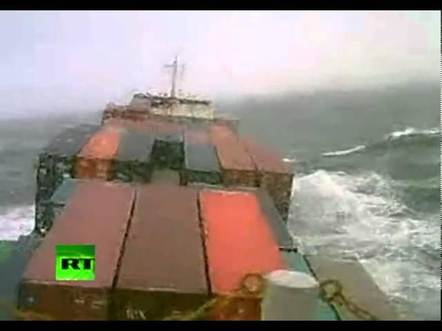 Marinos Cara A Cara Con Una Tormenta En El Océano Atlántico Youtube