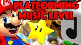 Super Mario Maker {Level Showcase} Music Platformer Gameplay