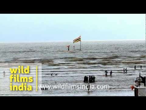 The holy temple of Lord Shiva, in the Arabian Sea?