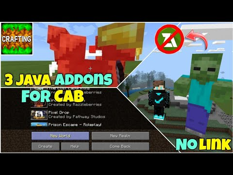 Top 3 Java Addons For Crafting And Building | Without Zarchiver | 100% Working