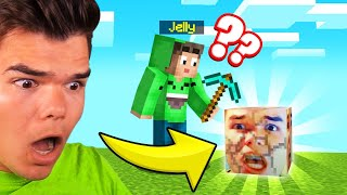 MINECRAFT But ALL BLOCKS = JELLY! (Funny)