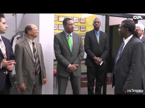 ANDREW HOLNESS JAMAICA'S FORMER PRIME MINISTER VISIT NEW YORK
