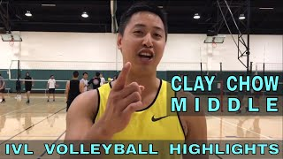 Clay Chow Volleyball Highlights - IVL Men's Open 2018 (Middle Blocker)