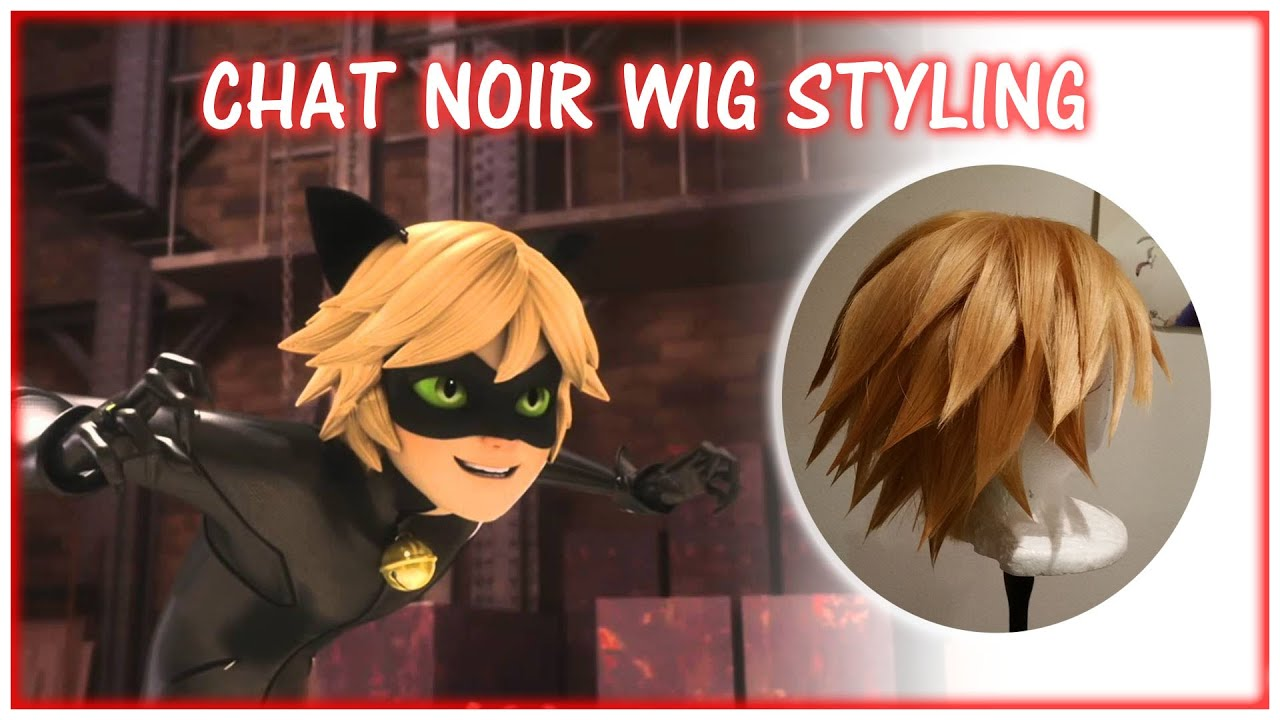 Chat noir wig styling youtube urmus Image collections