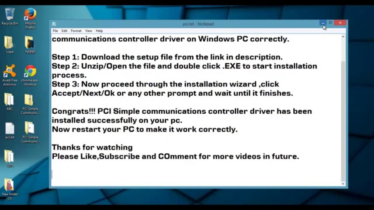drivers controleur pci de communications simplifies