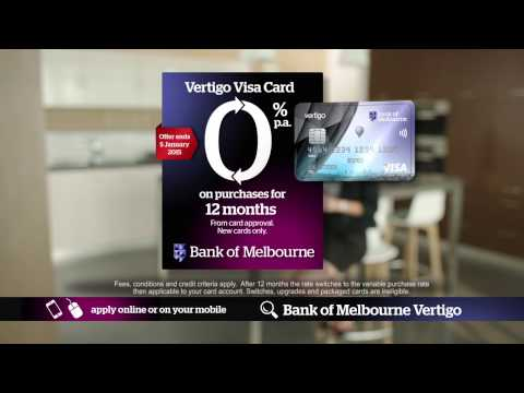 0% APR - 12 MONTHS - BANK OF MELBOURNE BY RISK FREE TV
