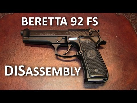 Beretta 92 FS Complete Disassembly (Detail Strip) - YouTube