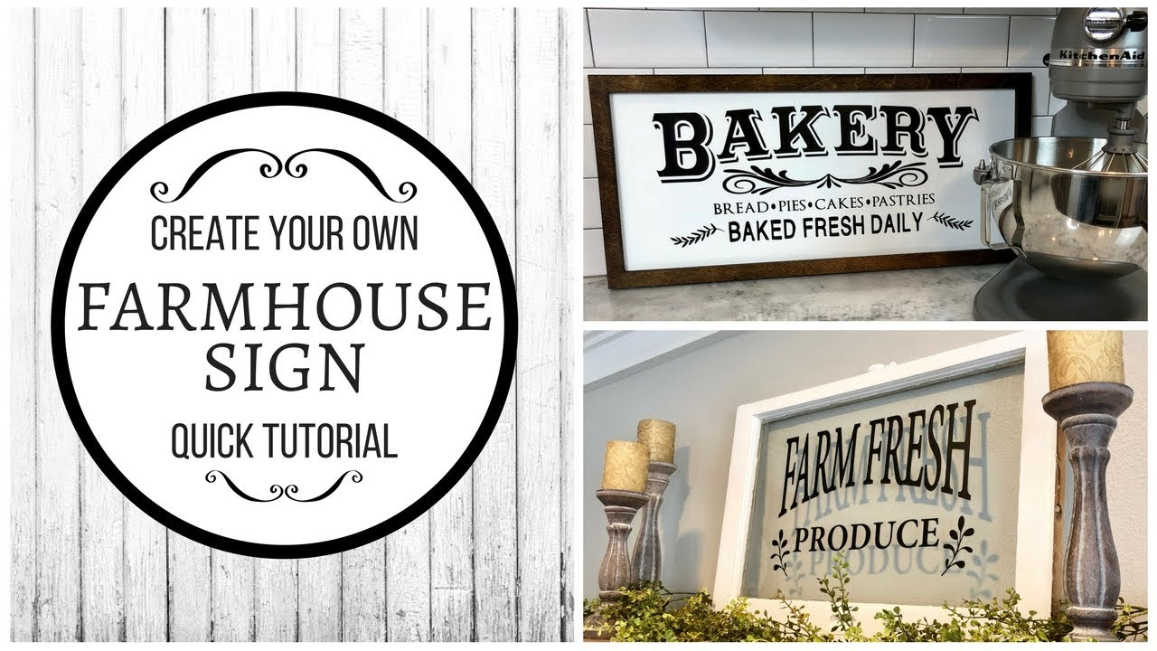 Diy farmhouse sign vinyl decals