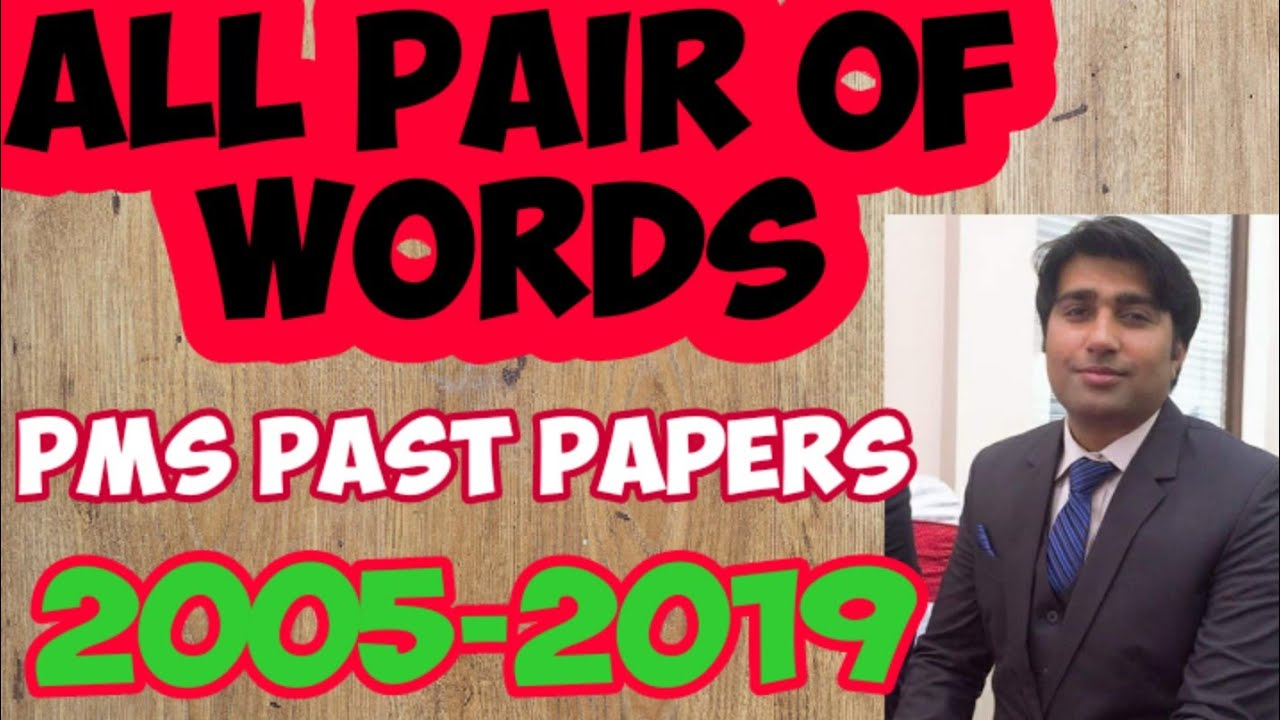 Pair of Words (Commonly Confused Words) PMS CSS Past Papers English Composition PMS PPSC CSS FPSC