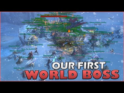 Guild Wars 2 Gameplay | Our First World Boss!