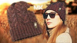 МОДНАЯ ШАПКА ИЗ ПРЯЖИ МЕТАЛЛИК / Подробный МК по вязанию женской шапки спицами