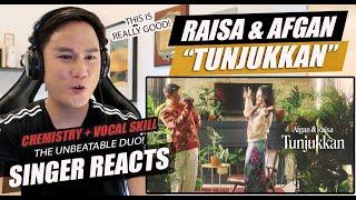 Afgan & Raisa - Tunjukkan   Official Music Video   SINGER REACTION