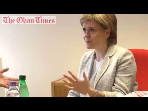 First Minister Interview Nicola Sturgeon at The Oban Times