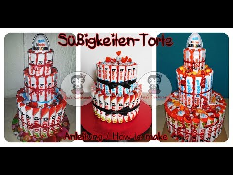 s igkeiten torte schokoriegel torte how to make a candy cake chocolate bar cake youtube. Black Bedroom Furniture Sets. Home Design Ideas
