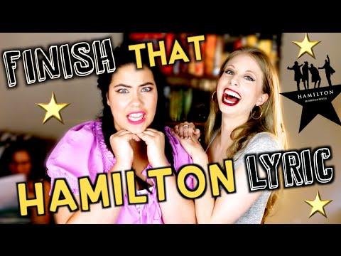 FINISH THAT HAMILTON LYRIC