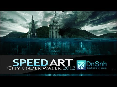 Speed Art - Palace of Culture in Warsaw under water