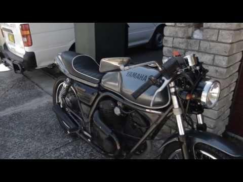 Yamaha SRV250 Renaissa Cafe racer Gunmetal with Racing stripes, missile kill switch