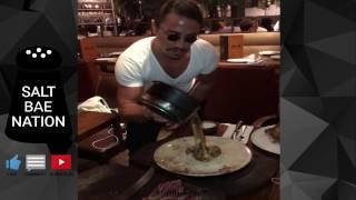 Salt Bae Best Compilation April 2017 Part 2 Nusret Steak Restaurant Dubai #Saltbae