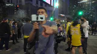 LIVE: Celebrations underway in LA as Lakers secure 17th NBA championship