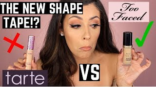 NEW Too Faced BORN THIS WAY SUPER COVERAGE CONCEALER VS TARTE SHAPE TAPE COMPARISON|Wear Test Review