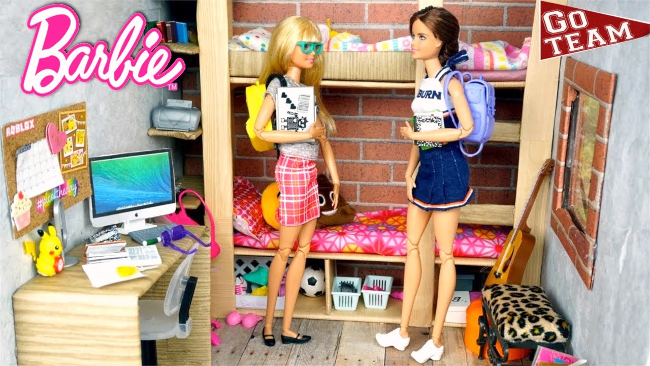 Barbie Dolls Bunk Bed Morning Routine & Movie Theater Play