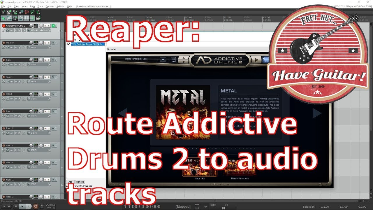 how to use addictive drums in reaper