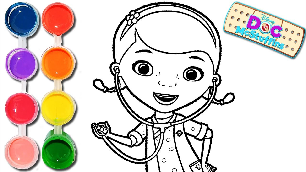 How To Draw Amp Color A Doc Mcstuffins Drawing On Amp New
