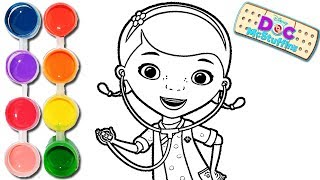 How to Draw & Color a Doc McStuffins | Drawing on & New Learning 4 Kids | 2017 Toddlers Learn Colors