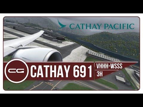 P3D V3.4   VHHH (Hong Kong) - Singapore (WSSS)   CPA691   PMDG 777-300ER