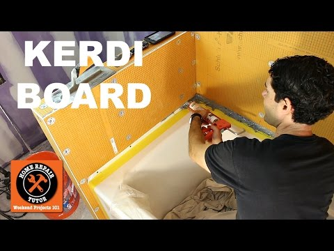 KERDI-BOARD: Waterproof a Shower in One Day (Step-by-Step) -- by Home Repair Tutor