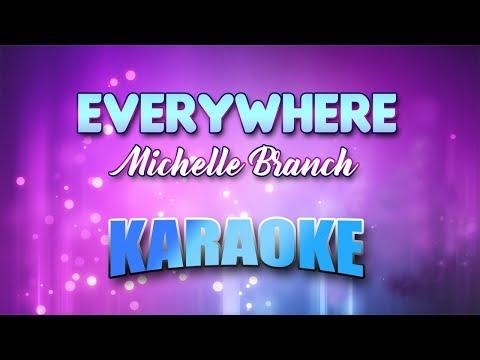 Michelle Branch - Everywhere (Karaoke version with Lyrics)