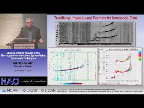Nikolay Zabotin | CU Boulder | Studies of Wave Activity in the Thermosphere-Ionosphere