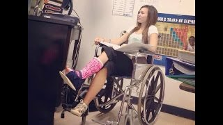 Repeat youtube video Cast girl wheelchairs and crutches