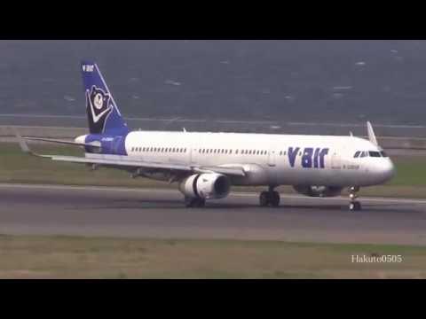 在りし日の V Air Airbus A321-231 B-22608 Landing at Nagoya