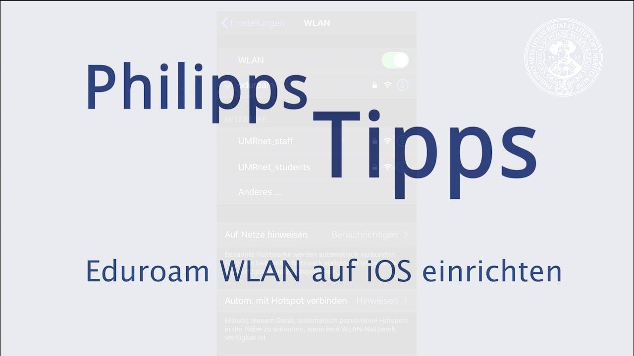 Eduroam WLAN auf iOS einrichten