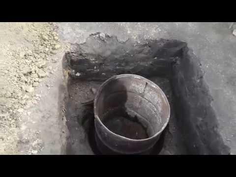 Фундамент для туалета. Как сделать.