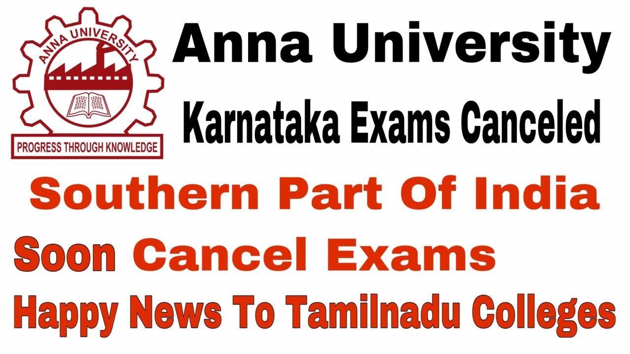 Anna University   Karnataka Canceled Exams   South Starts   Live   Tamil