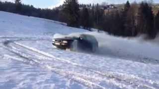 audi 80 quattro 2 6 v6 part 2 test drifcik na sniegu