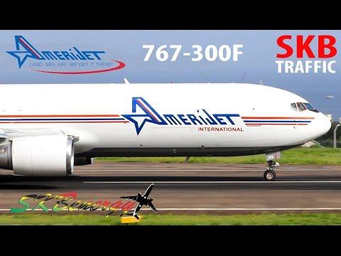 Amerijet International 767-300F departing St. Kitts Airport in GE-CF6 style !!!!!
