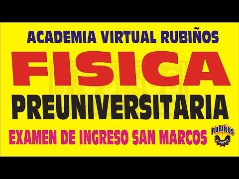 FISICA PREGUNTAS RESUELTAS DEL EXAMEN DE ADMISION DE LA UNIVERSIDAD NACIONAL DE SAN MARCOS