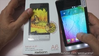 Karbonn A6 Budget Android Phone Unboxing & Overview