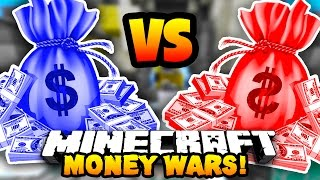 Minecraft RED VS BLUE MONEY WARS! #2 w/Preston, MrWoofless & Pete